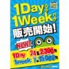 【西葛西店】7/7 9時より販売開始!破格の1Day・1Weekパック!!